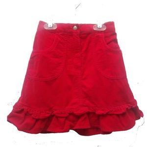 Hanna Andersson Red Velvet Skirt Holiday 120/ 6
